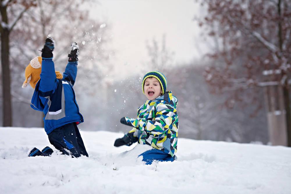 Mis hijos en la nieve